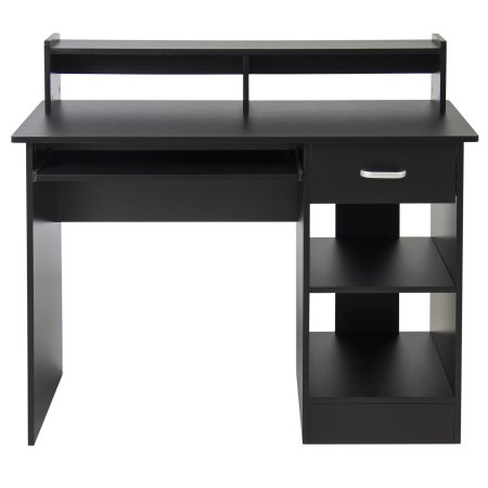 Computer Desk Home Office Laptop Table Workstation College Dorm Study  Furniture With Bookshelf Black New