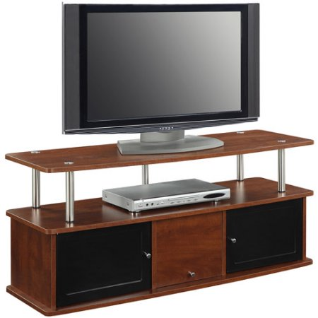 Convenience Concepts Designs2go Tv Stand With 3 Cabinets For Flat