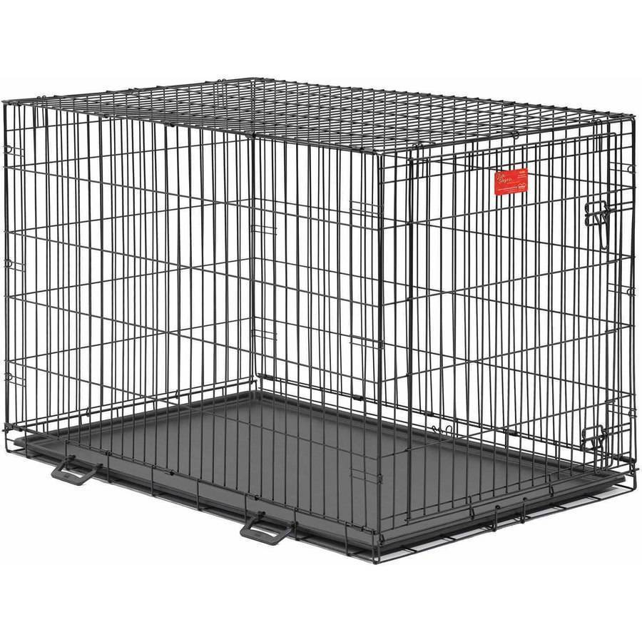Dog Crate Life Stages Midwest 48x30x33 Inches Folding Metal Single