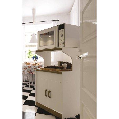 Microwave Cabinet Stand Kitchen Storage Rolling Cart Shelf ...
