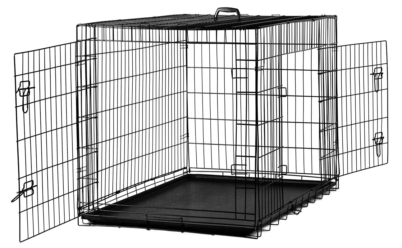 Oxgord 48 Inches Heavy Duty Foldable Double Door Dog Crate ...