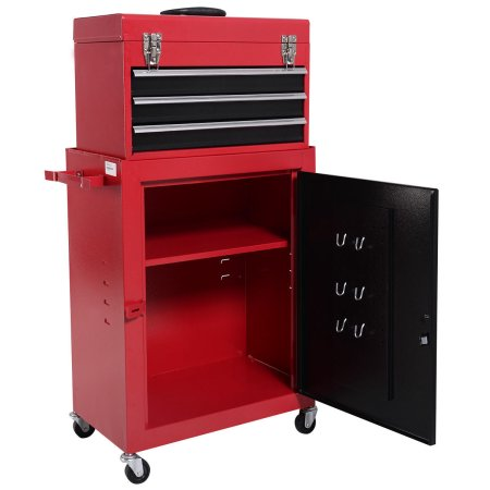 2pc Mini Tool Chest And Cabinet Rolling Storage ...