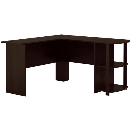 L shaped computer laptop desk corner table home office workstation l shaped computer laptop desk corner table home office workstation furniture with side storage shelves dark russet cherry new watchthetrailerfo