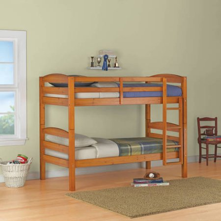Better Homes And Gardens Leighton Twin Over 2 Twin Wood Bunk Beds