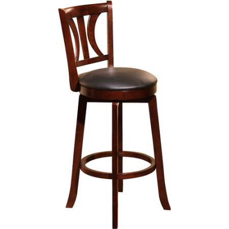 Houston Swivel Barstool 30 Inches High Chair Counter Seat Bar Stool Wood  Furniture Set Of 2 In Mahogany New