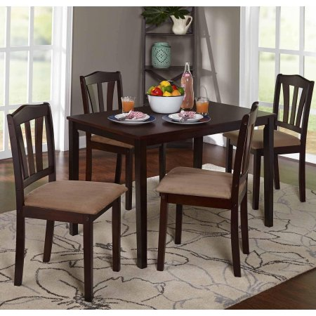 Metropolitan 5 Piece Dining Set Wood Classic Modern Design